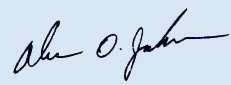Pastor Jackson Scanned Signature Blue Background