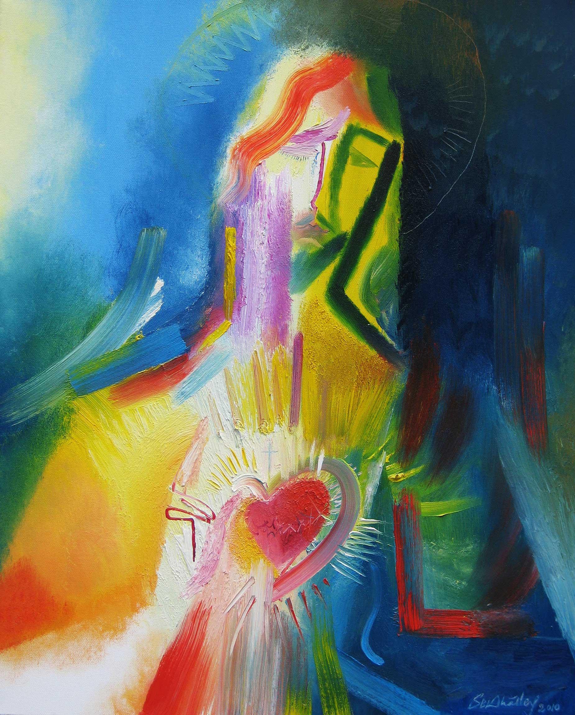 Sacred Heart Oil Painting